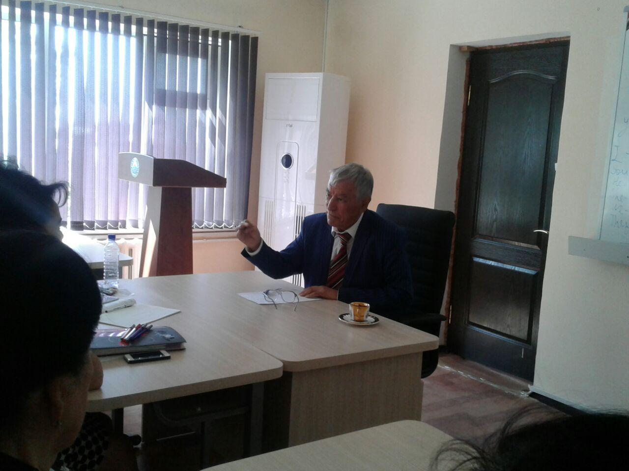 Встреча с академик академии наук Республики Узбекистана Искандаровым Тулкин Искандарович