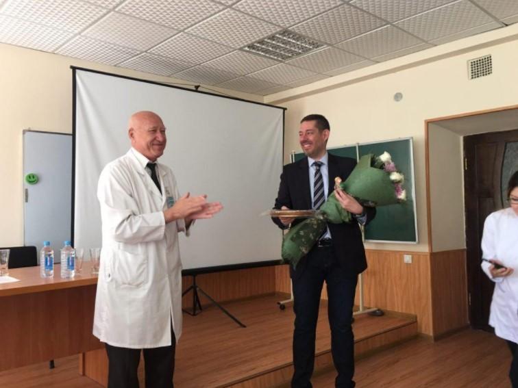Meeting was held with Professor Lambeth Ahmet Arda from Turkey